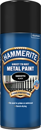 Hammerite Slätlack Svart spray 400ml